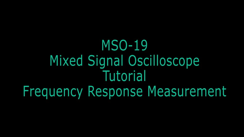 MSO-19 Frequency Response