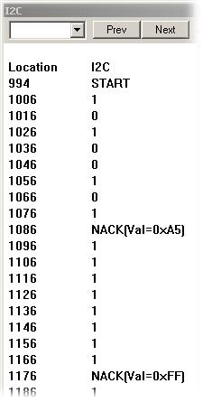 I2C Debugging